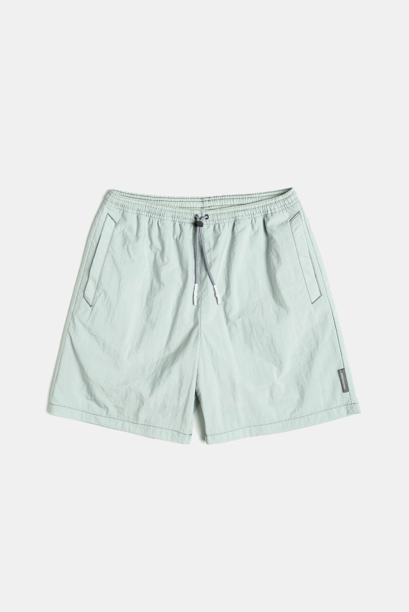 "UNAFFECTED Logo Label Swim Shorts ""Misty Mint"""
