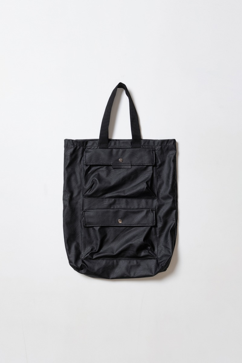 "DAVID CATALAN Faux Leather Bag ""Black"""