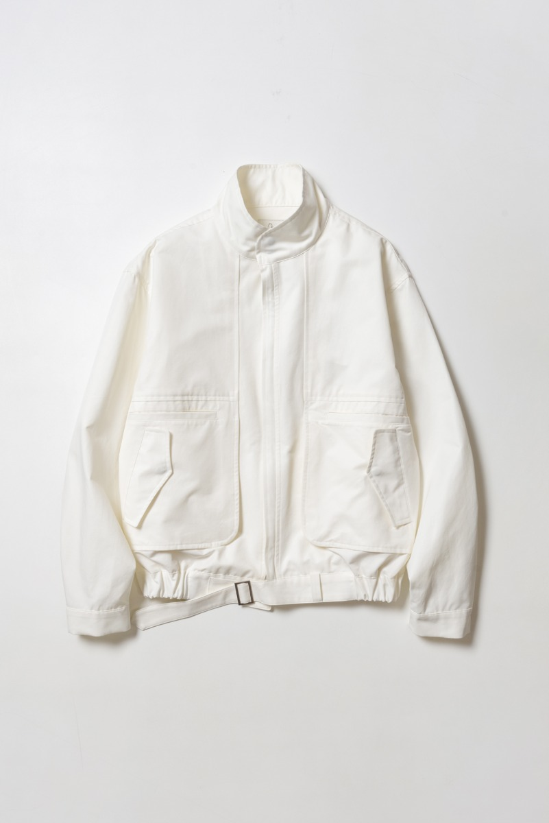 "OOPARTS Hem Belted Crop-blouson Jacket ""Lime"""
