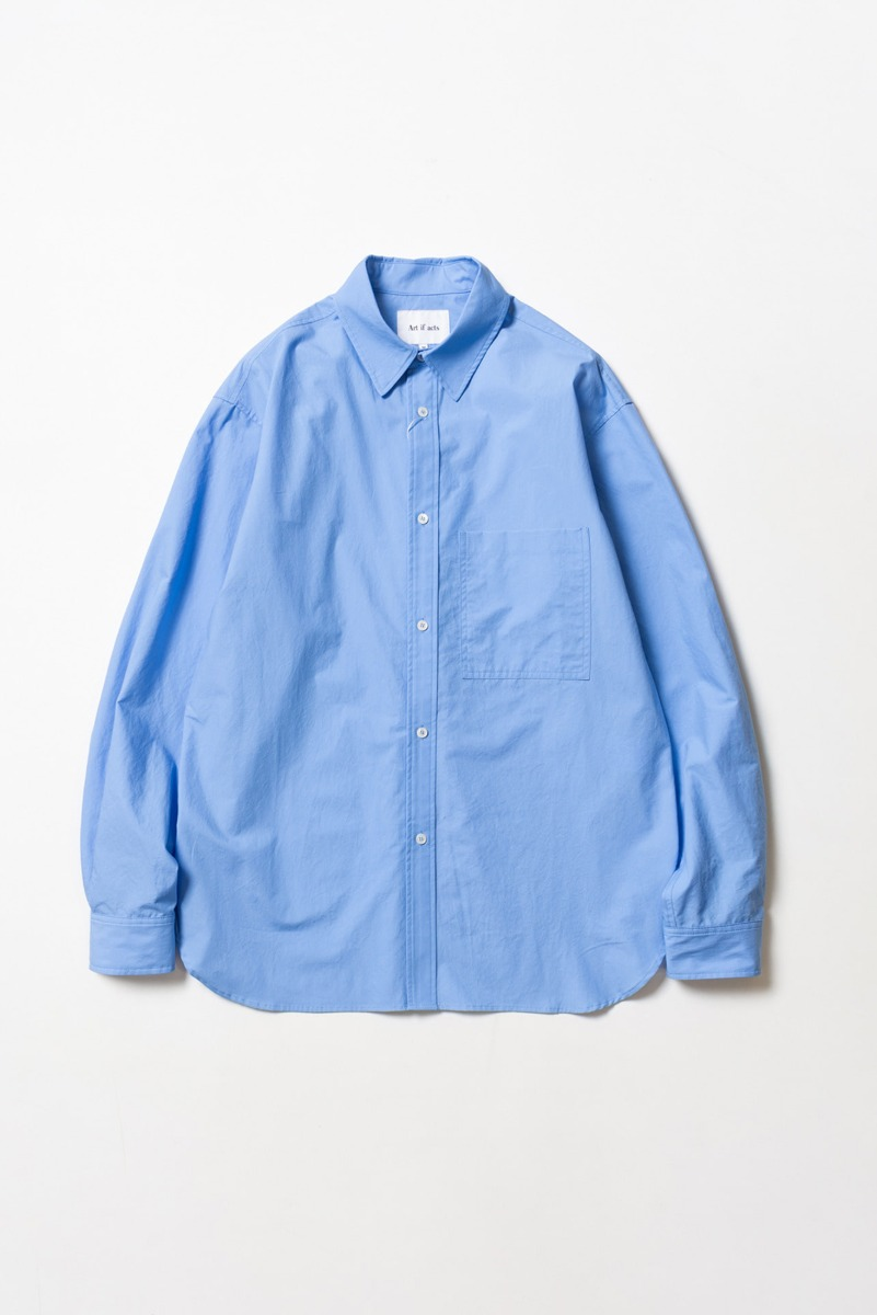 "ART IF ACTS Solid Pocket Shirt ""Sax Blue"""
