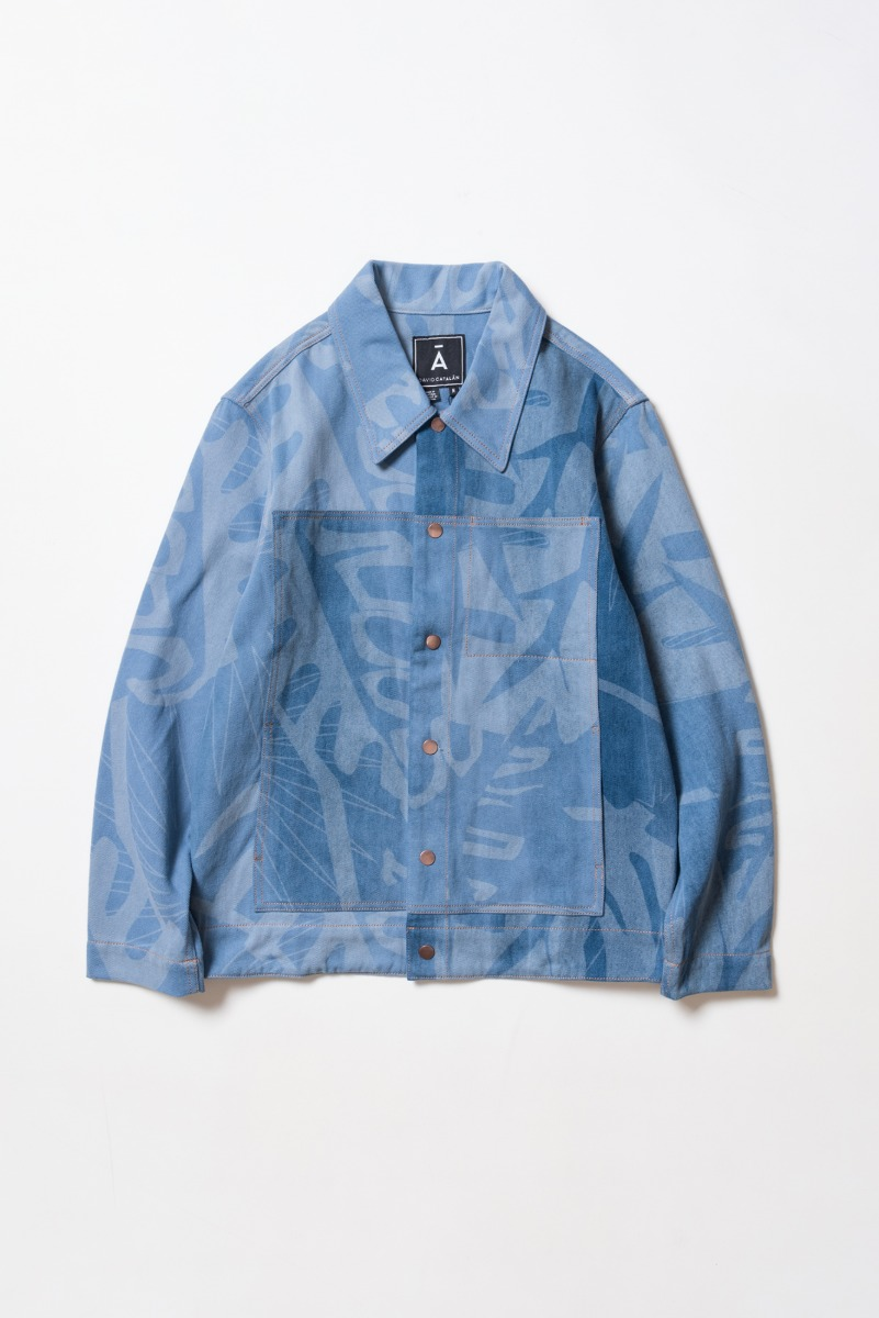 "DAVID CATALAN Laser Denim Hawai Jacket ""Light Blue"""