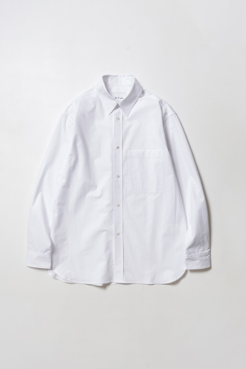 "ART IF ACTS Solid Pocket Shirt ""White"""